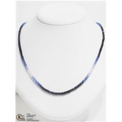 45) 18K YELLOW GOLD SAPPHIRE BEAD NECKLACE