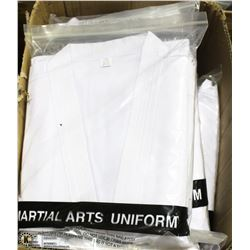 BOX OF 12 MARTIAL ARTS UNIFORMS SIZE 8/220