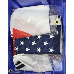 BOX OF WORLD FLAGS