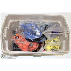 TOTE OF 683  MARTIAL ARTS KEY CHAINS INCL 35 RED,