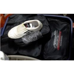 SMALL TOTE OF 16  MARTIAL ARTS SHOES
