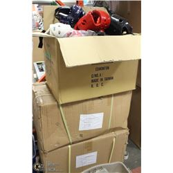 THREE BOXES OF 39  MARTIAL ARTS HEAD PROTECTION
