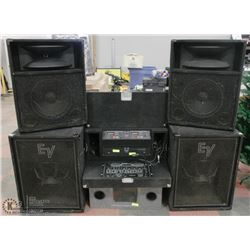 PROFESSIONAL COMPLETE DJ SET UP INCL . 4 LIGHT