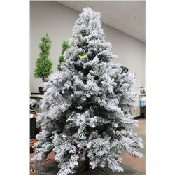 FROSTED 7-1/2'  ARTIFICIAL CHRISTMAS TREE WITH LED
