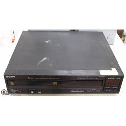 SONY 5 DISC CD PLAYER 8 TIMES OVERSAMPLING AND