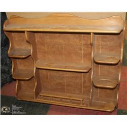 WOOD CHINA/COLLECTOR PLATE HUTCH