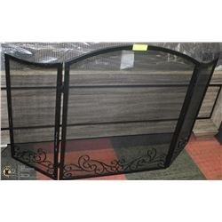 "FOLD OUT BLACK FIREPLACE SCREEN 31"" TO 45"""