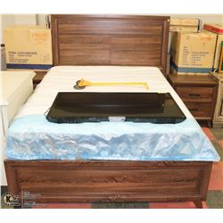 NEW QUEEN SIZE BED FRAME WITH 2 NIGHT STANDS ON
