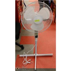 "WHITE 14"" OSCILLATING 3 SPEED FLOOR FAN, HEIGHT"