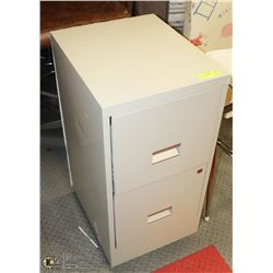 ROLLING 2 DRAWER METAL FILING CABINET