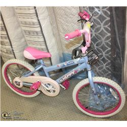 "18"" HUFFY CHILDRENS BIKE WITH NEW HELMET"