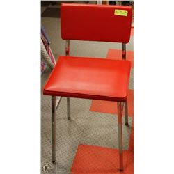 RED & CHROME BAR STOOL