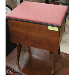 VINTAGE WOOD SEWING BOX STOOL