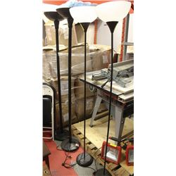 GROUP OF 4 FLOOR LAMPS - AS IS