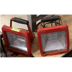 PAIR OF PORTABLE WORKLIGHTS