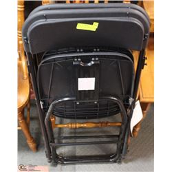 2 PLASTIC FOLDING CHAIRS BLACK