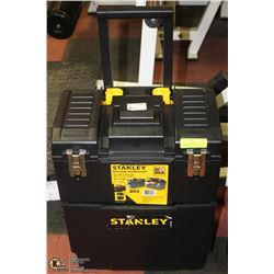 NEW STANLEY ROLLING 2 SECTION TOOLBOX