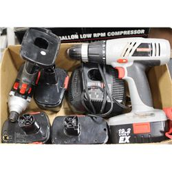 CRAFTSMAN 19 VOLT DRILL AND IMPACT DRIVER WITH