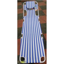 FACE UP, FACE DOWN BEACH LOUNGER, BLUE