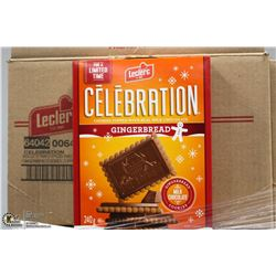 CASE WITH 12 - 240 GRAM  BOXES OF LECLERC CHOCOLAT