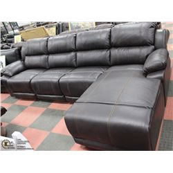NEW BROWN LEATHERETTE CHAISE LOUNGE RECLINING