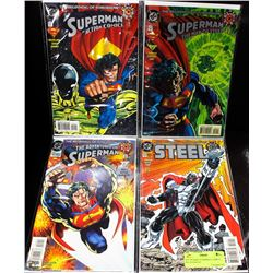 SET OF RARE SUPERMAN COMICS --- ALL # 0 ISSUES