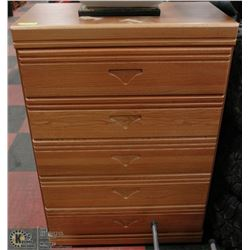 "5 DRAWER WOOD DRESSER CHEST 31""X16""X45""H"