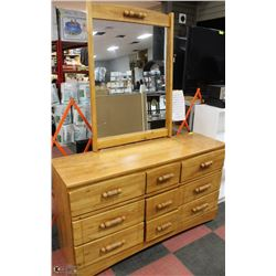 "6 DRAWER DRESSER WITH MIRROR 55""X32""X16"""