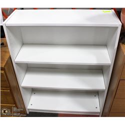 "3 SHELF BOOK CASE WHITE 31.5""X42"""
