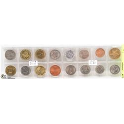 LOT OF 16 UNCIRCULATED WORLD COINS