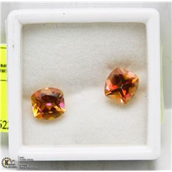#6) 2 MATCHING MYSTIC TOPAZ TREATED STONES