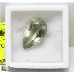 #17) GREEN AMETHYST 13.85TCW , LIGHT GREEN PEAR