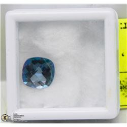 #7) BLUE MYSTIC TOPAZ 3.21CT , LONDON BLUE COLOR