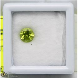 #5)PERIDOT 0.97CT BRILLIANT CUT GEMSTONE
