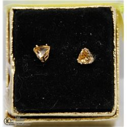 #15) CITRINE 10K YELLOW GOLD EARRINGS .36TCW
