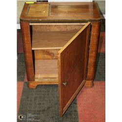 ANTIQUE STORAGE CABINET WITH DOOR