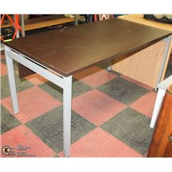"METAL AND WOOD DESK 30""X60""X29""H"