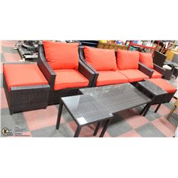 NEW 8PC RATTAN PATIO SET WITH CUSHIONS