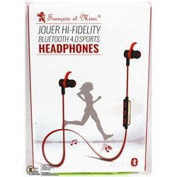 FRANCOIS ET MIMI BLUETOOTH 4.0 SPORTS HEADPHONES