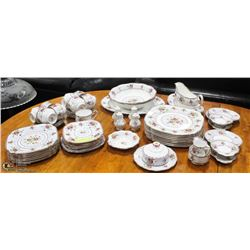 61PC ROYAL ALBERT PETIT POINT CHINA SET.