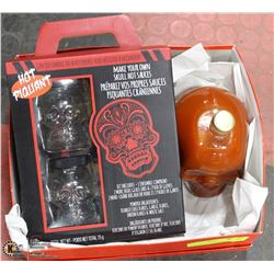 MAKE YOUR OWN SKULL HOT SAUCES KIT WITH LARGE