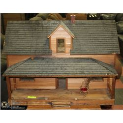 1:16 SCALE CUSTOM DOLL HOUSE , REAL WOOD WITH