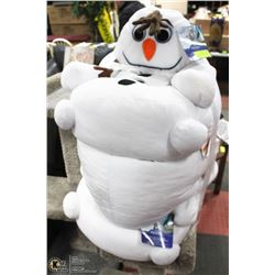 LOT OF 3 FROZEN OLAF BEAN BAG CHAIRS