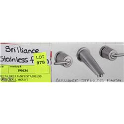 DELTA BRILLIANCE STAINLESS FINISH WALL MOUNT