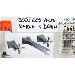 KOHLER MEMOIRES WALL MOUNT BATH FAUCET POLISHED