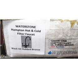 WATERSTONE HAMPTON HOT/COLD FILTER FAUCET BLACK