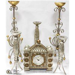 6PC MATCHING SHOWHOME DECOR INCL MANTEL CLOCK