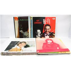 BOX OF LP RECORDS INCL HELEN REDDY, ANNE MURRAY,