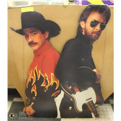 BROOKS AND DUNN LIFE SIZE CARDBOARD CUT OUT