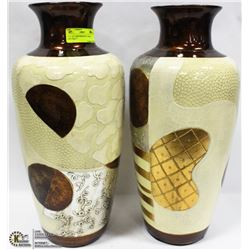 """LOT OF 2 SHOWROOM 14"""" GOLD ABSTRACT"""